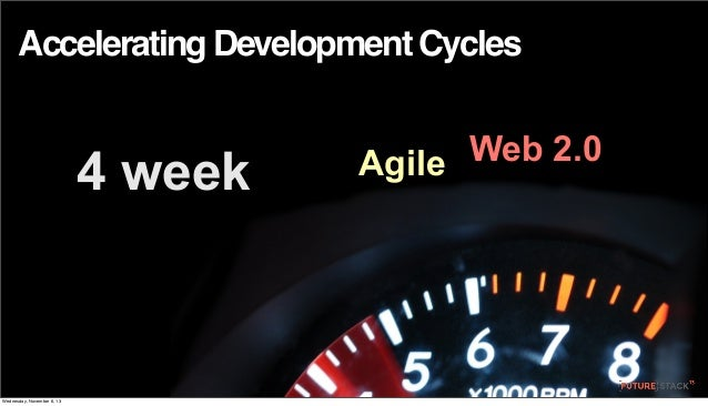 Accelerating Development Cycles  4 week  Wednesday, November 6, 13  Web 2.0 Agile
