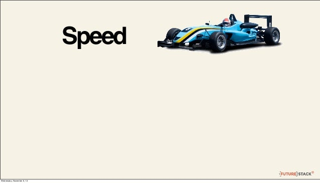Speed  Wednesday, November 6, 13