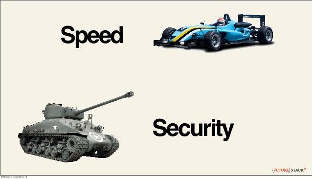 Speed  Security Wednesday, November 6, 13