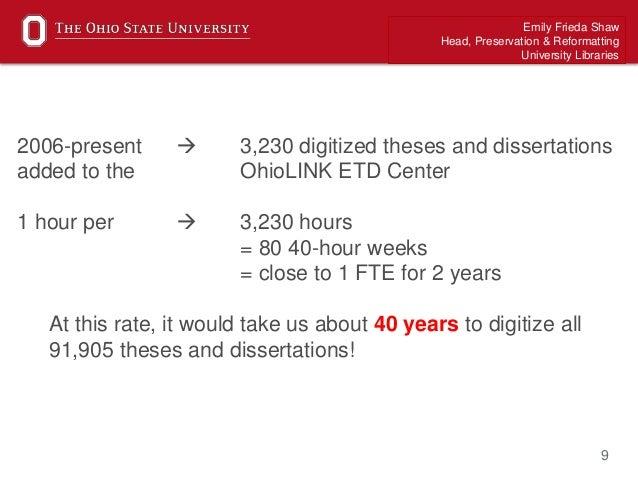 Thesis and dissertation ohio university