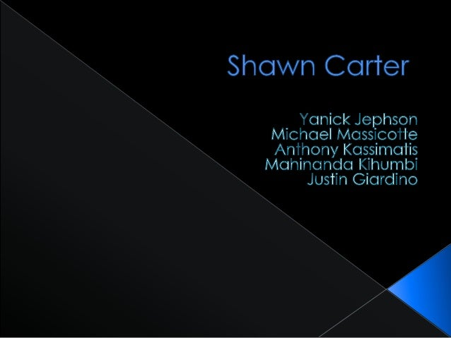 """Don't judge a book by it's cover Behind the name Why Shawn """"Jay-Z"""" Carter"""
