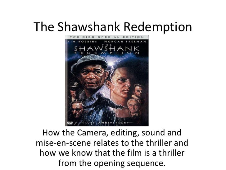a movie analysis of the shawshank redemption The shawshank redemption: an analysis  in the shawshank redemption, time and space play an important role in the development of the plot and the characters.