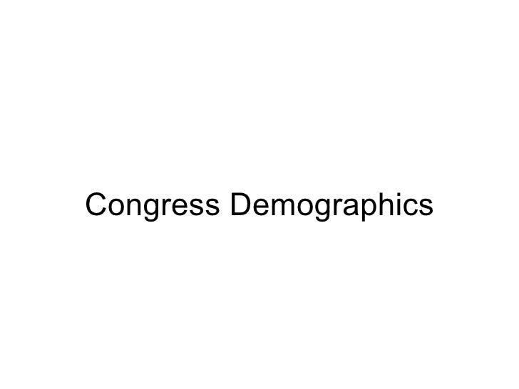 Congress Demographics
