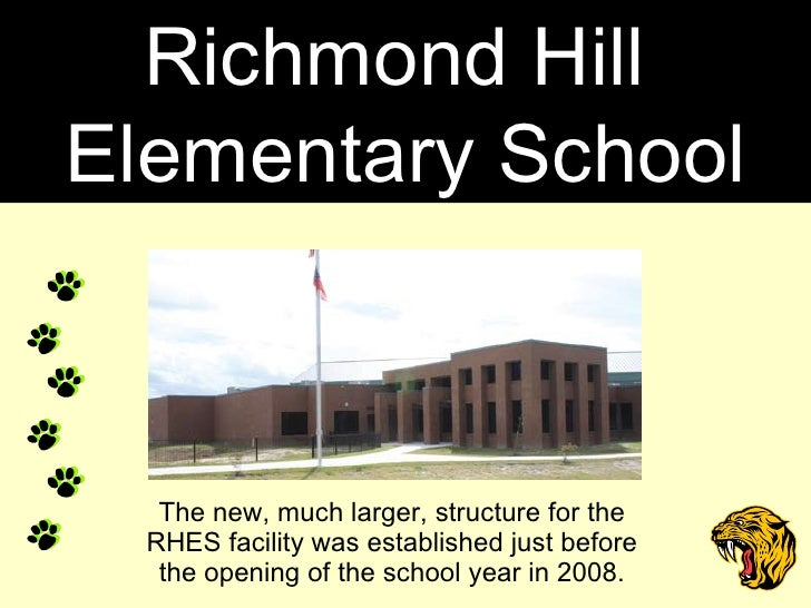 The new, much larger, structure for the RHES facility was established just before the opening of the school year in 2008. ...