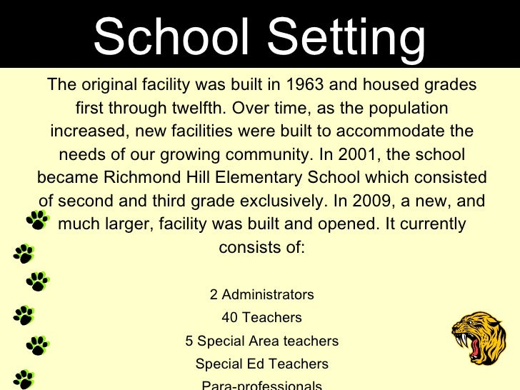 The original facility was built in 1963 and housed grades first through twelfth. Over time, as the population increased, n...