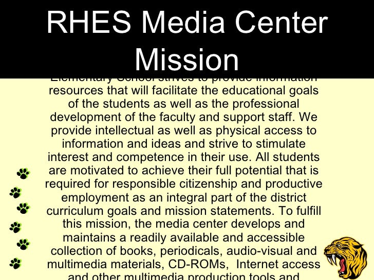 The library media program at Richmond Hill Elementary School strives to provide information resources that will facilitate...
