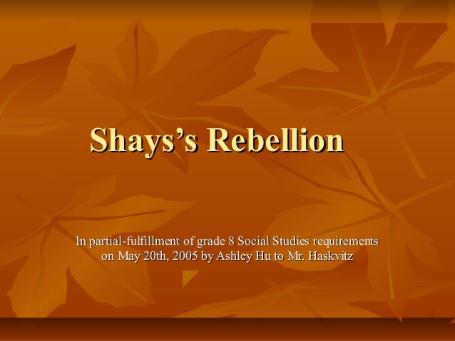 consequences of shays rebellion