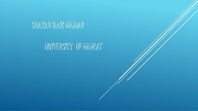 SHAZAB NABI GUJJAR UNIVERSITY OF GUJRAT