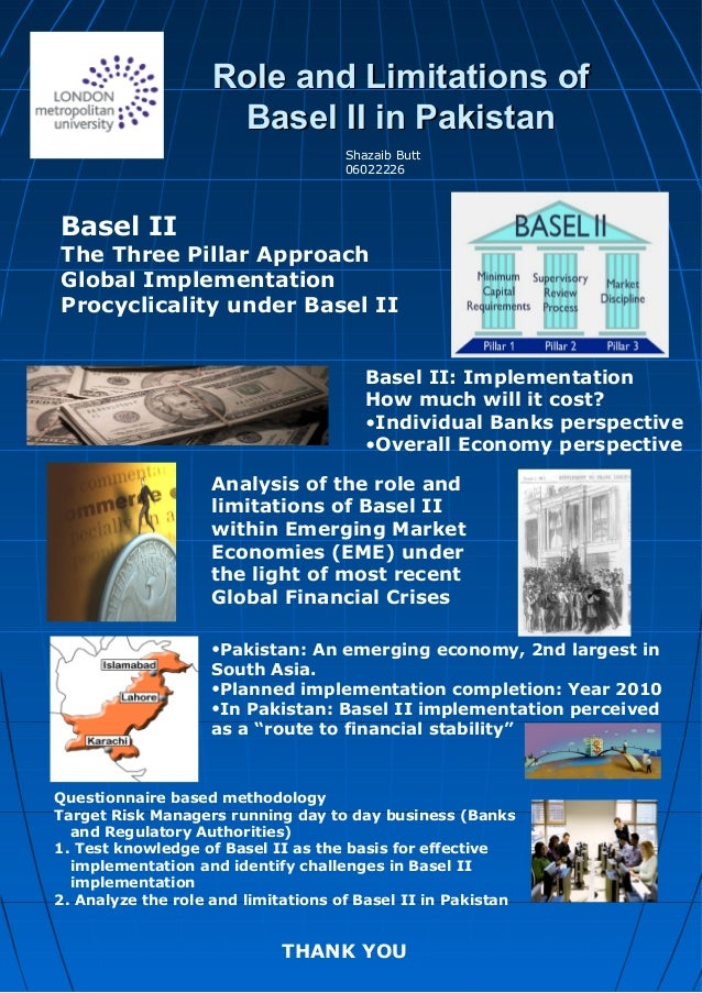 Role and Limitations ofRole and Limitations of Basel II in PakistanBasel II in Pakistan Analysis of the role and limitatio...