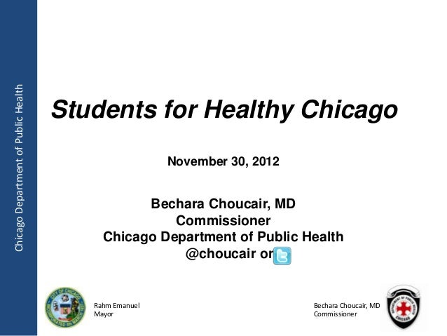 Chicago Department of Public Health                                      Students for Healthy Chicago                     ...