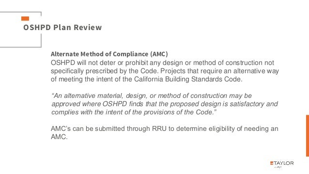 California Building Standards Code Oshpd