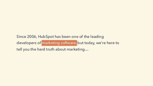 The Hard Truth About Marketing Slide 2