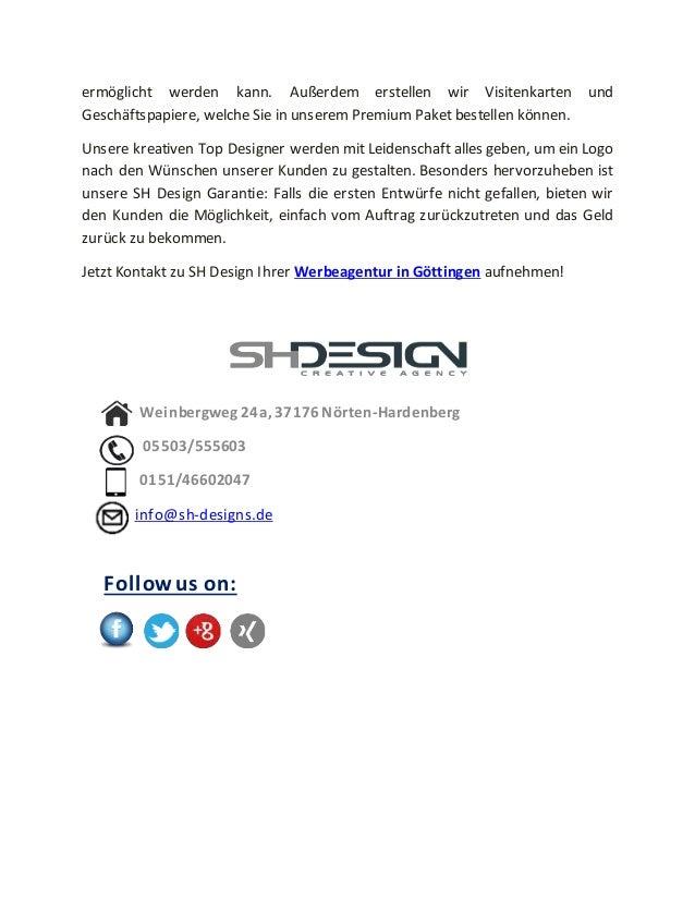 Sh Design Werbeagentur Aus Göttingen Bietet Edle Logo