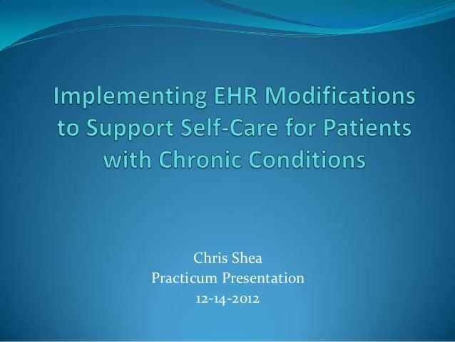 Chris SheaPracticum Presentation       12-14-2012