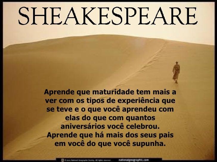 Shakespeare NÃO é O Autor