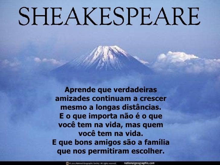 Shakespeare Não é O Autor Um Dia Você Aprende