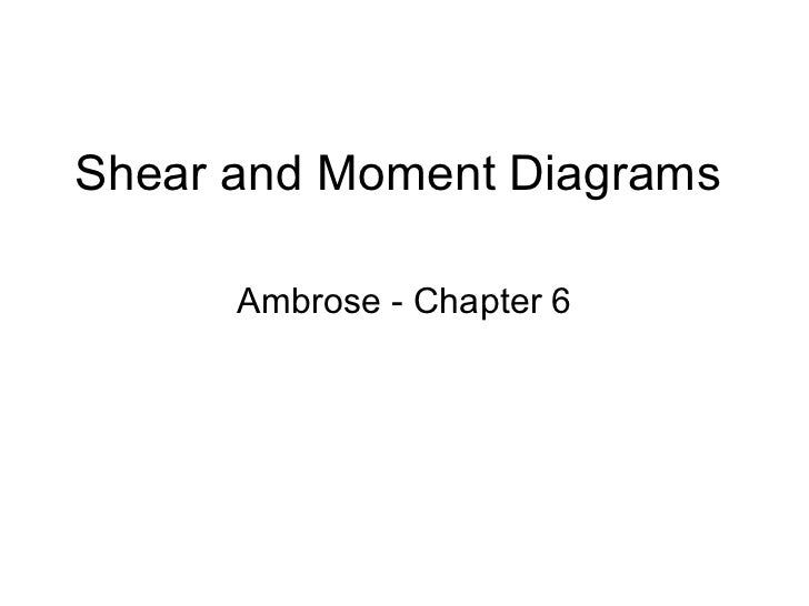 Shear and Moment Diagrams Ambrose - Chapter 6