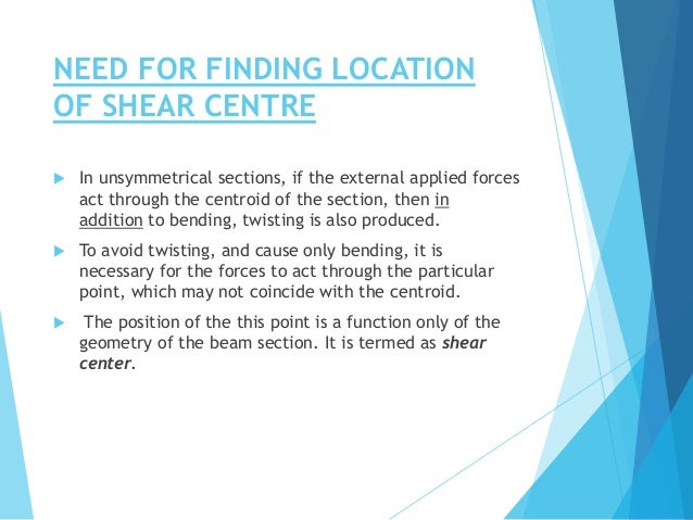 Shear centre