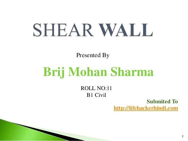 Shear Wall PPT