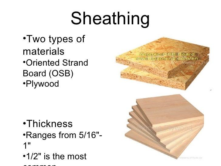 Osb Sheathing Board ~ Sheathing materials