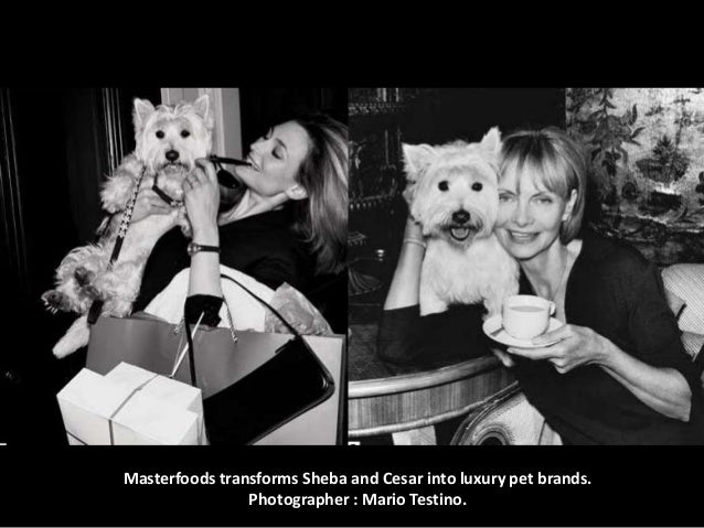 Masterfoods transforms Sheba and Cesar into luxury pet brands. Photographer : Mario Testino.
