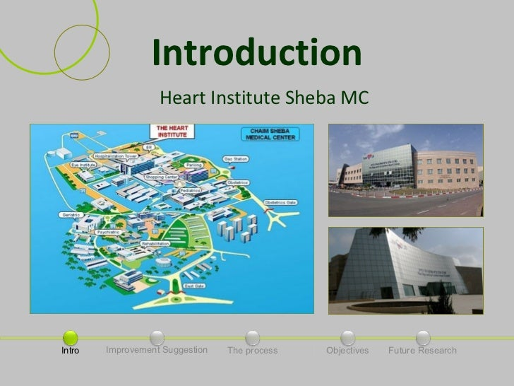 Introduction                   Heart Institute Sheba MCIntro   Improvement Suggestion   The process   Objectives   Future ...
