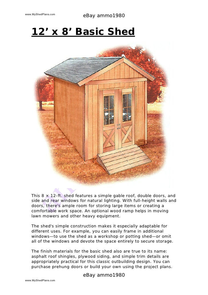 How to build a shed garden shed plans build it yourself for Garden shed designs yourself