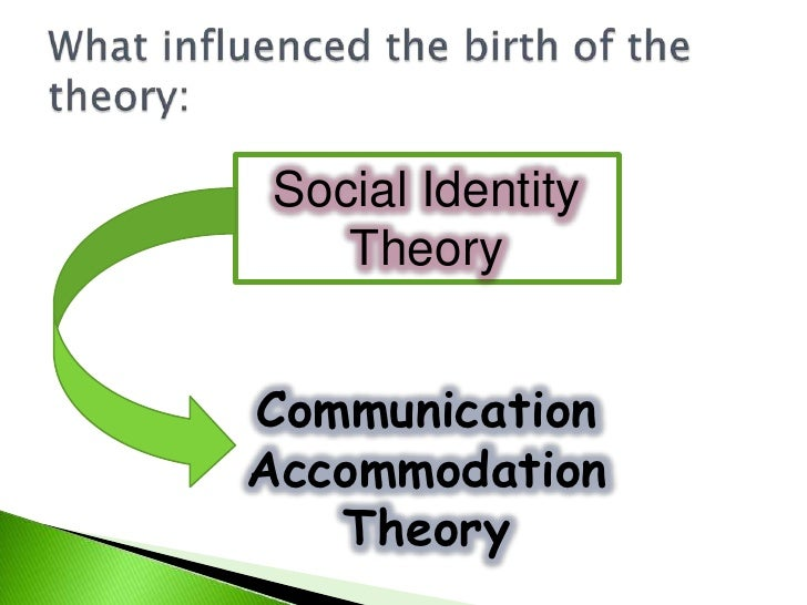 communication accommodation theory essays The communication accommodation theory states when people interact they alter their speech to fit in or accommodate for other cat describes the psychological, social, and linguistic behaviors that people exhibit when communicating with each other (coupland, coupland, giles, henwood, 1988) each individual has his.