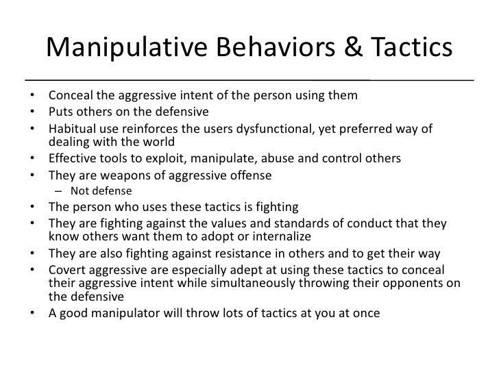 Definition of manipulative behavior