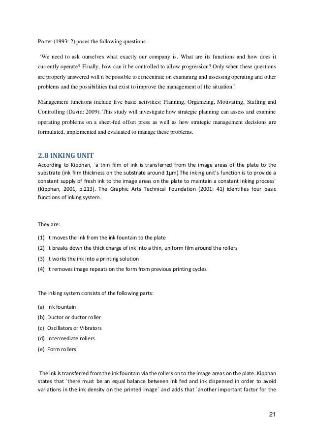 Sheet fed offset press operating: Importance of Strategic Operation …