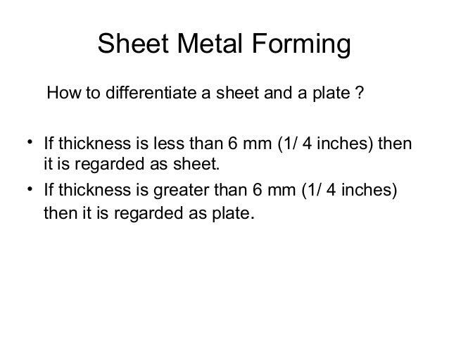 Sheet Metal Forming Slide 5