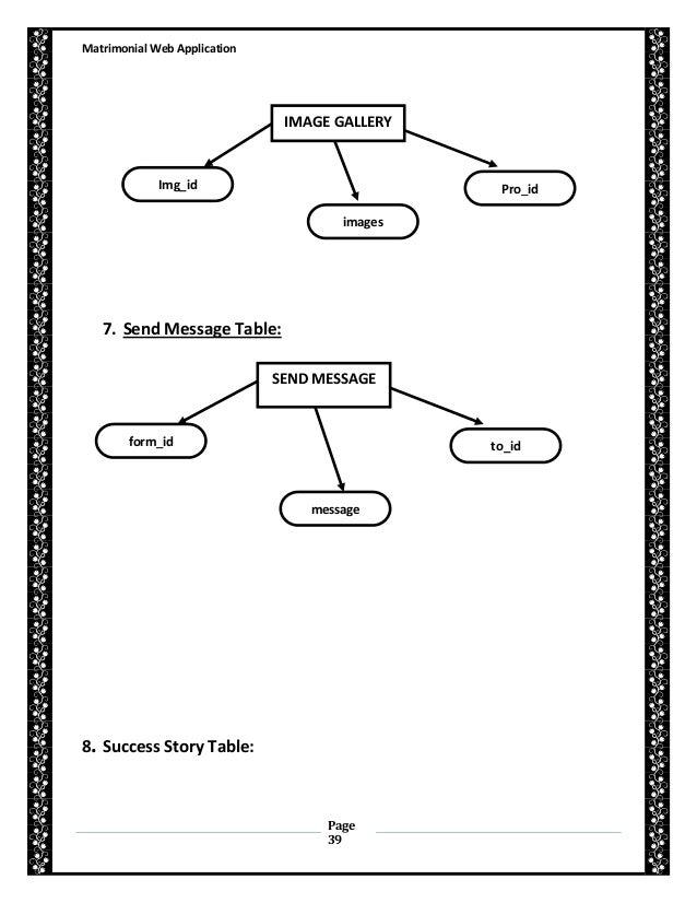 Matrimonial Web Site Documentation