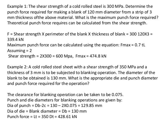 Sheet metal process unit 4 notes