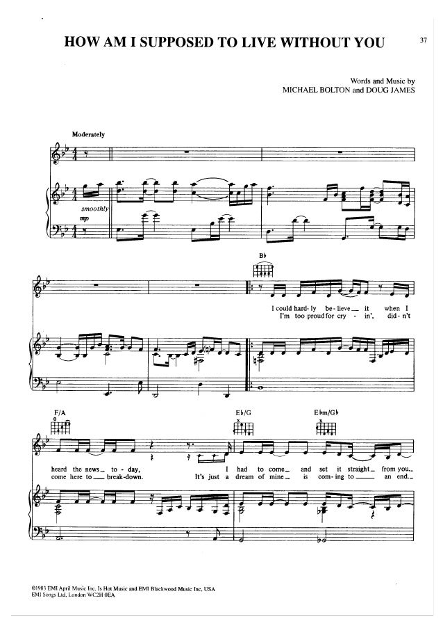 All Music Chords fall for you sheet music : Sheet music piano)the all time best collection vol3