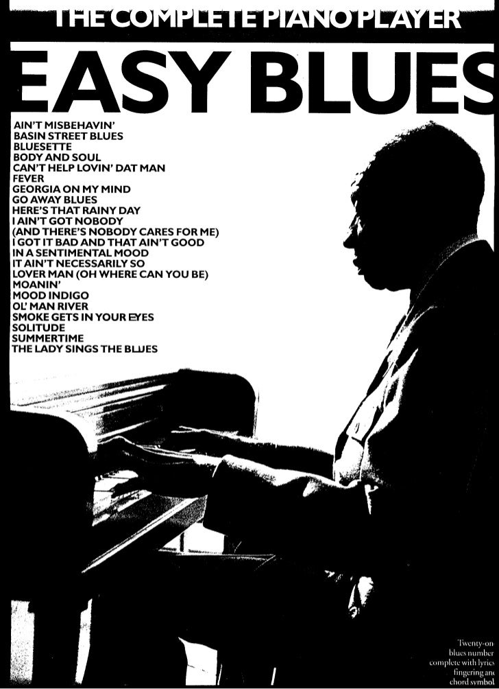 Piano easy piano blues sheet music : music the complete piano player easy blues[1]