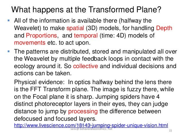 What happens at the Transformed Plane? All of the information is available there (halfway the  Weavelet) to make spatial ...
