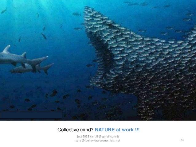 Collective mind? NATURE at work !!!        (cc) 2013 vantill @ gmail com &       sara @ behavioraleconomics . net   18