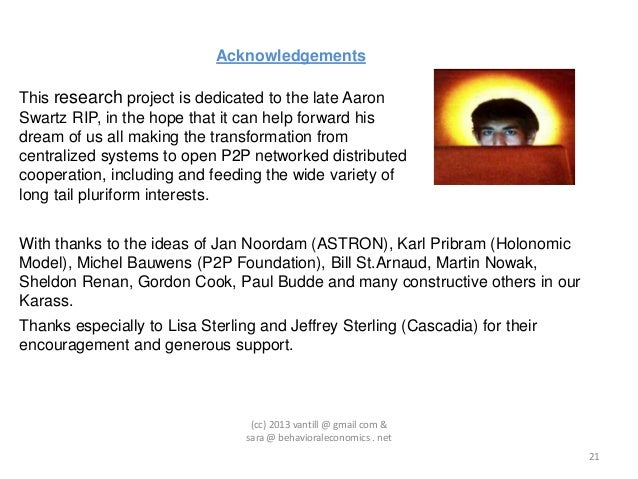 AcknowledgementsThis research project is dedicated to the late AaronSwartz RIP, in the hope that it can help forward hisdr...