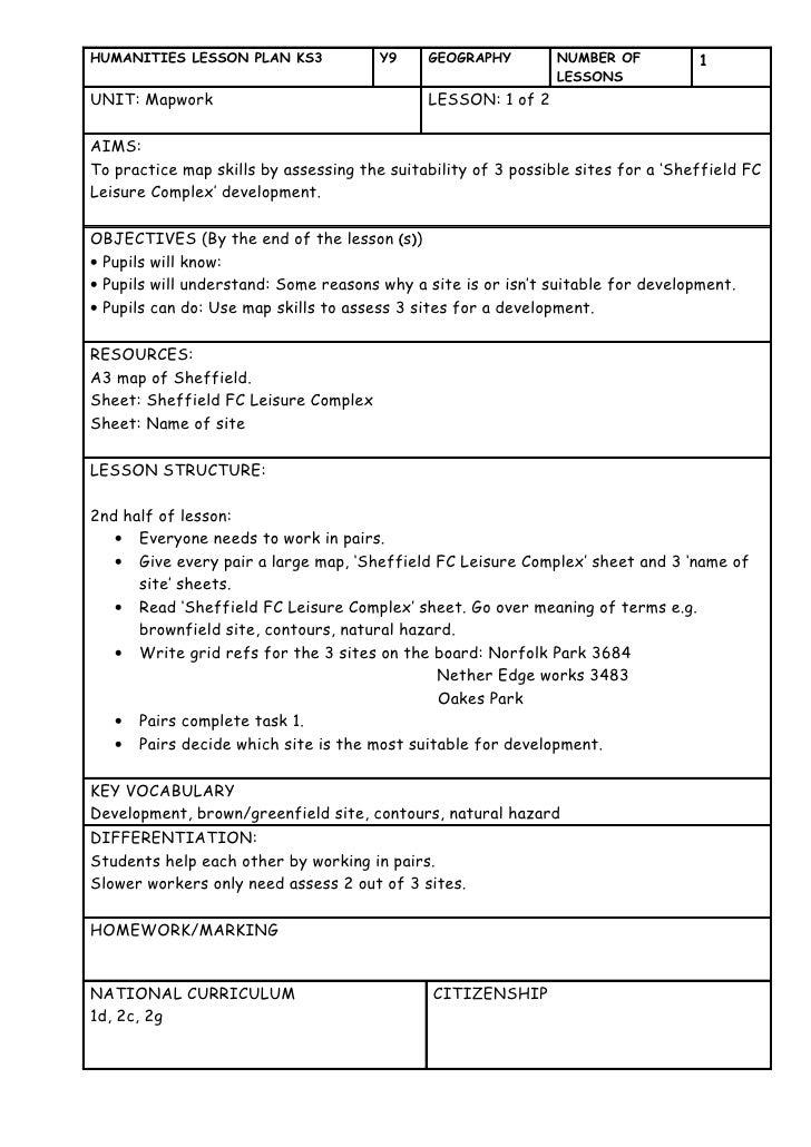 Sheffield Fc Lesson Plan