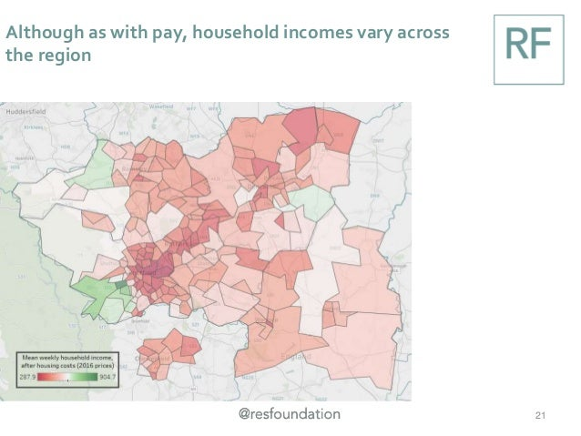 Although as with pay, household incomes vary across the region 21