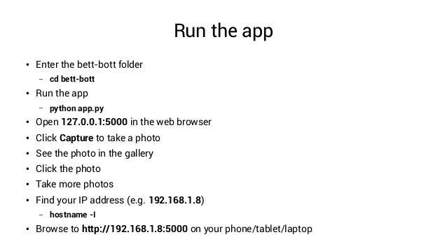 Picamera, Flask and the Twitter API Raspberry Pi workshop
