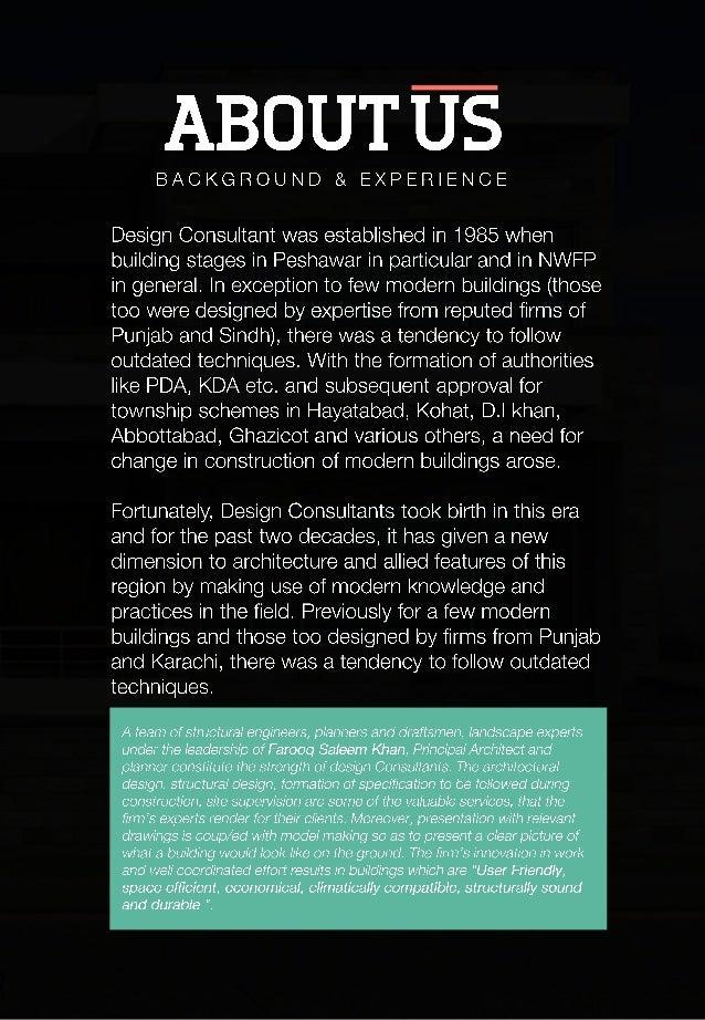 Design consultant pakistan company profile for Design consultancy company profile