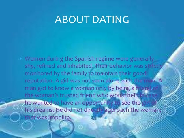 Filipino dating customs