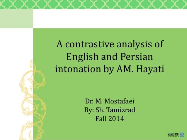 contrastive analysis english and torajanese pitch