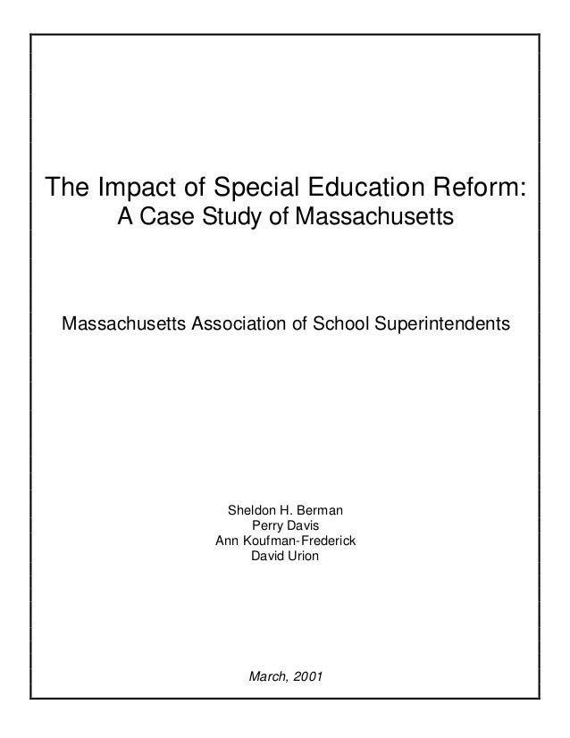 The Privatization Of Special Education >> The Impact Of Special Education Reform A Case Study Of