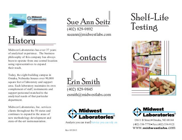 Sue Ann Seitz  History Midwest Laboratories has over 37 years of analytical experience. The business philosophy of this co...