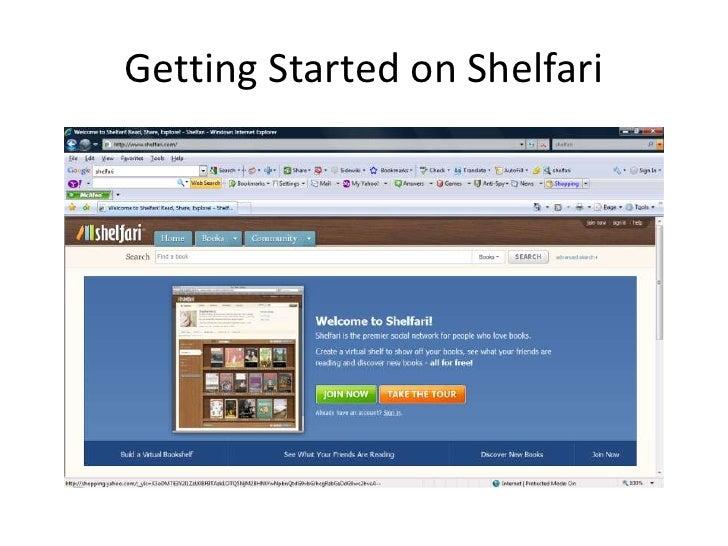 Getting Started on Shelfari<br />