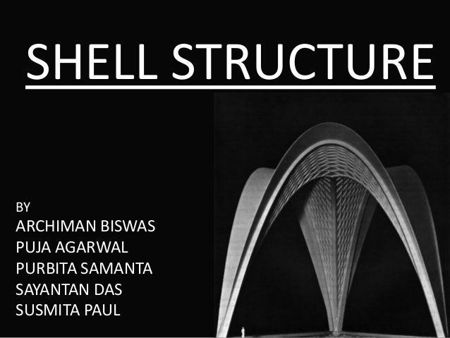 SHELL STRUCTURE BY ARCHIMAN BISWAS PUJA AGARWAL PURBITA SAMANTA SAYANTAN DAS SUSMITA PAUL