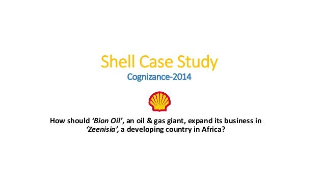 case study shell oil The following are two case studies illustrating the approach of companies that  embrace the idea of a connected oil and gas environment, and.