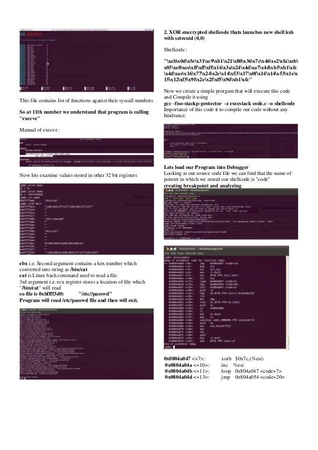 Linux Shellcode disassembling